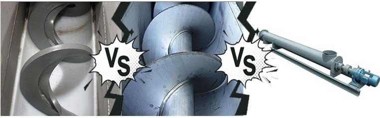 ordinary screw conveyor shaftless scew conveyor